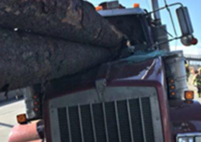 verkeerd vastgezet van lading vrachtwagen