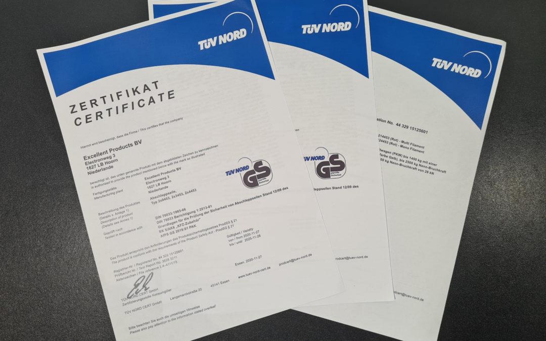 TUV Certificaat